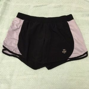 Black and white workout shorts from Old Navy